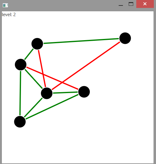 Untangle written in SimpleFX, JavaFX and Scala